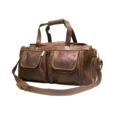 """21"""" Distressed Leather Travel Duffel"""