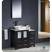 Torino 36 Single Modern Bathroom Vanity Set with Mirror by Fresca