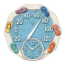 """Springfield Precision Instruments 12"""" Thermometer Wall Clock"""