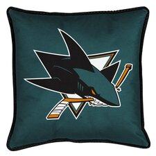 NHL San Jose Sharks Sidelines Throw Pillow