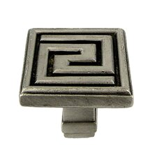 Greek Key Square Knob