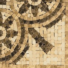 """Natural Stone 4"""" x 4"""" Marble Rieti Listello Tile in Brown/Beige"""
