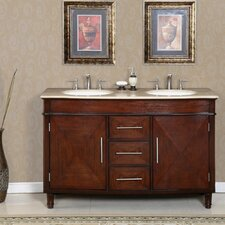 Cambridge 55 Double Bathroom Vanity Set by Silkroad Exclusive