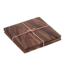 Tuscany Square Table Mat with Leather Tie (Set of 4)