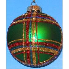 Plaid Ball Ornaments (Set of 4)