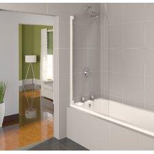 Aqua 8 80cm x 140cm Half Frame Bath Screen
