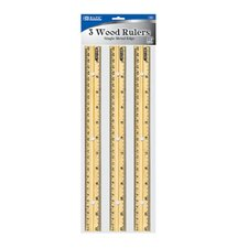 Wooden Ruler (Set of 3)
