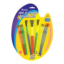 Kid's Watercolor Paint Brushes (Set of 9)