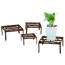 Square 4 Piece Plant Stand Set