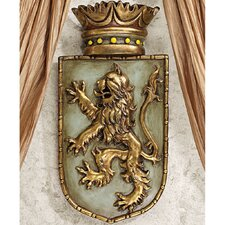 Medieval Rampant Lion Shield Wall Décor (Set of 2)