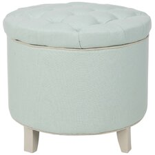 Rocco Upholstered Storage Ottoman by Safavieh