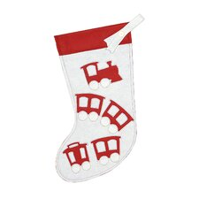North Pole Choo Choo Christmas Stocking