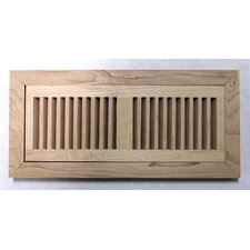 "6.75"" x 14.5"" Maple Wood Flush Mount Vent Cover"