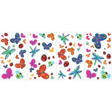 Studio Designs 51 Piece Jelly Bugs Wall Decal
