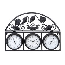 Erin Outdoor Clock with Thermometer and Hygrometer