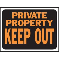 Private Property Keep Out Sign (Set of 10)
