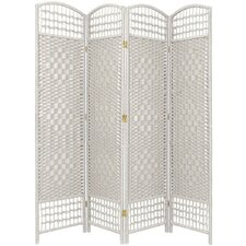 67 x 51 Weave 4 Panel Room Divider by Oriental Furniture