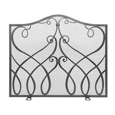 Cypher Wrought Iron Fireplace Screen