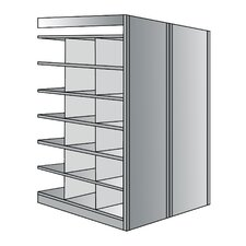 Deep Bin 87 H 6 Shelf Shelving Unit Starter by Hallowell
