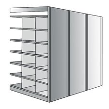Deep Bin 87 H 7 Shelf Shelving Unit Add-on by Hallowell