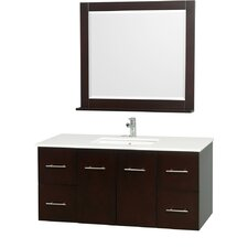Centra 48 Single Espresso Bathroom Vanity Set with Mirror by Wyndham Collection