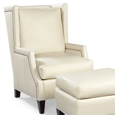 Leather High Back Wing Chair by Fairfield Chair