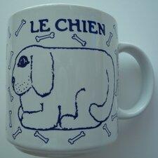 Vintage French 11 oz. Chien (Dog) Mug
