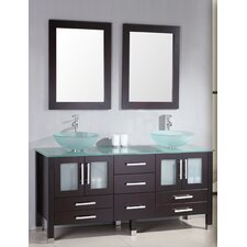 Emerald 64 Double Bathroom Vanity Set with Mirror by Cambridge Plumbing