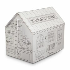 Grocery with Washable Markers Playhouse
