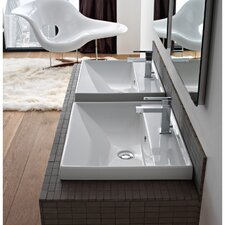 """ML 24"""" Wall Mounted Bathroom Sink with Overflow"""