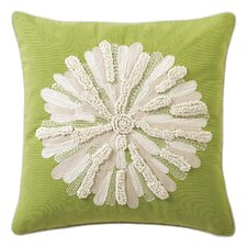 Asters 100% Cotton Throw Pillow