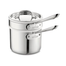 Stainless Steel 2-qt. Double Boiler Set with Lid