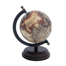 Metal Wooden Globe