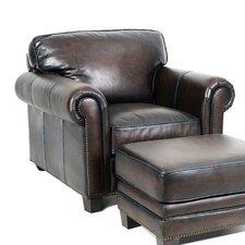 Hillsboro Club Chair and Ottoman by Palatial Furniture