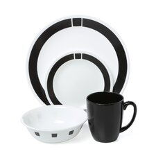 Livingware Urban 16 Piece Dinnerware Set, Service for 4