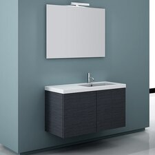 Space 39 Single Wall Mount Bathroom Vanity Set with Mirror by Iotti by Nameeks