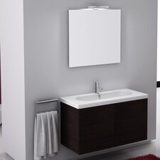 Trendy 39 Single Wall Mount Bathroom Vanity Set with Mirror by Iotti by Nameeks