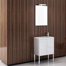 Happy Day 24 Single Footed Bathroom Vanity Set with Mirror by Iotti by Nameeks