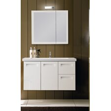 Integral 39 Single Wall Mounted Bathroom Vanity Set with Mirror by Iotti by Nameeks