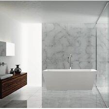 Sessile 67 x 28.75 Soaking Bathtub by Malta