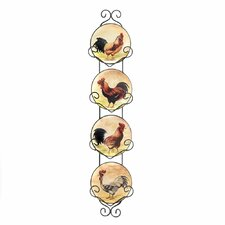 Country Charm 5 Piece Hanging Plates Set