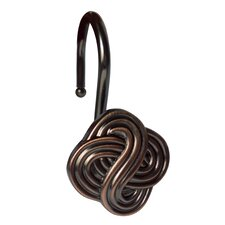 Gaelic Knot Shower Curtain Hooks (Set of 12)