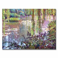 'Homage to Monet' Painting Print on Canvas in Green/Purple/Brown