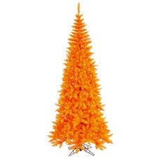10' Orange Fir Artificial Christmas Tree with 900 Mini Single Colored Lights