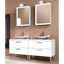 """Aurora 61"""" Double Bathroom Vanity Set with Mirror"""