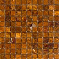 """1"""" x 1"""" Onyx Mosaic Tile in Brown"""