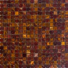 """0.63"""" x 0.63"""" Onyx Mosaic Tile in Red"""