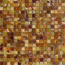 "0.63"" x 0.63"" Onyx Mosaic Tile in Green"