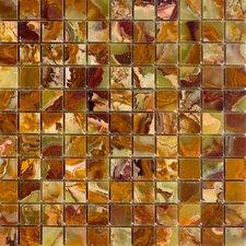 "1"" x 1"" Onyx Mosaic Tile in Green"
