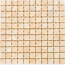 "1"" x 1"" Onyx Mosaic Tile in White"